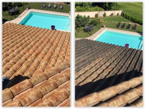 Nettoyage de tuile en 3 étapesà Villeurbanne