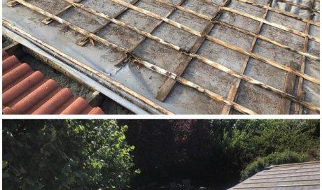 Création d'une toiture avec remplacement de liteaux à Saint-laurent-de-mure